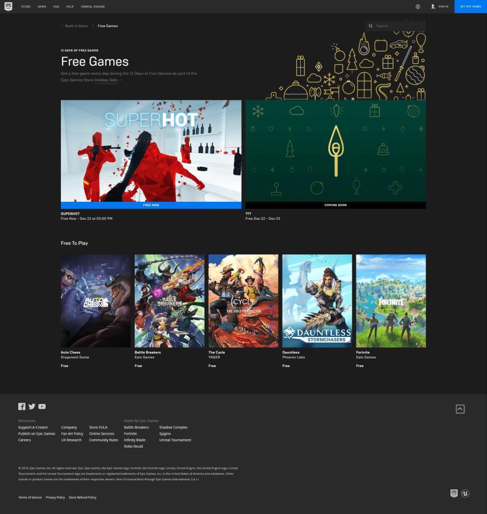 Epic Games | Zilnic jocuri gratuite pentru PC in perioada sarbătorilor 1