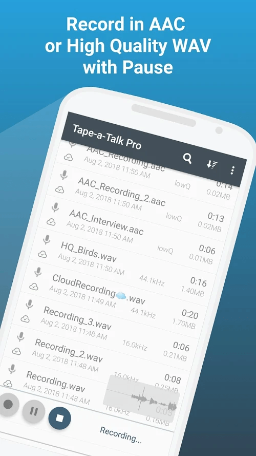 Google Play | Tape-a-Talk Pro Voice Recorder - Aplicatie Android pentru înregistrare vocala - Gratuit 1