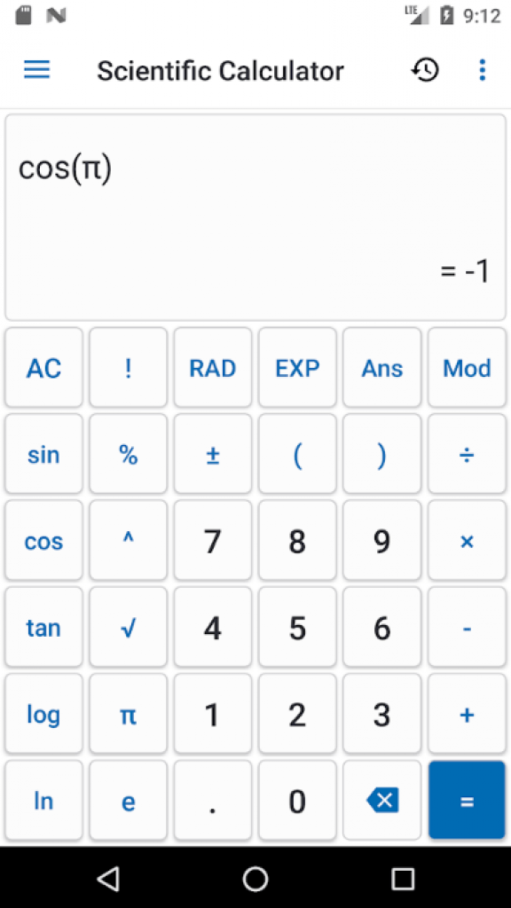 Android Calculator Științific