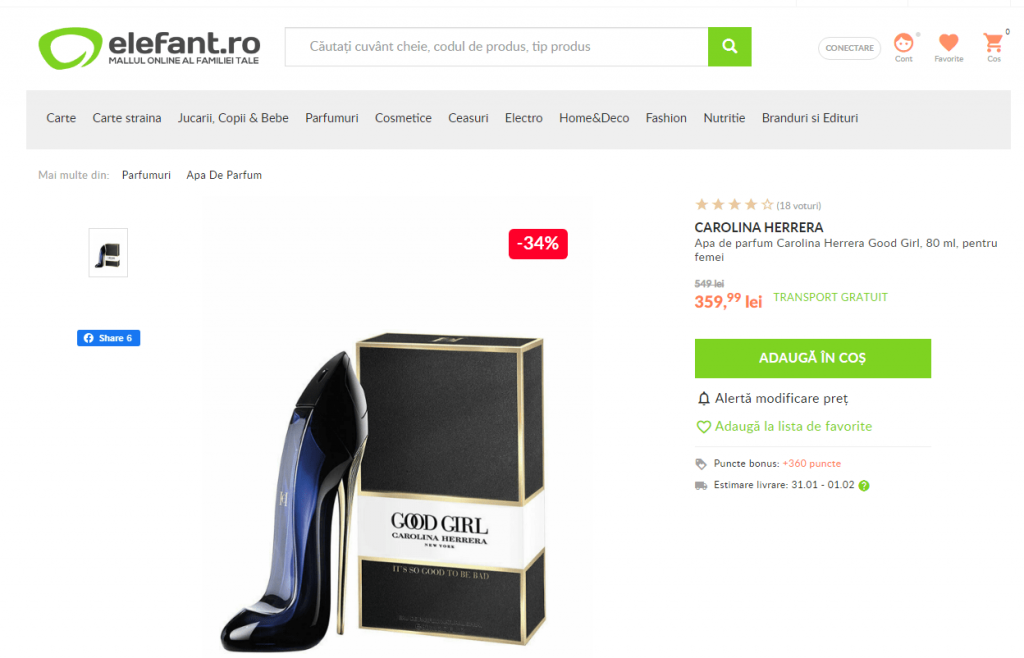 Carolina Herrera Good Girl reducere