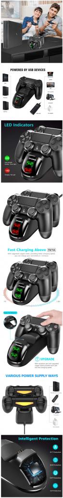 Statie duală de incarcare controler PS4