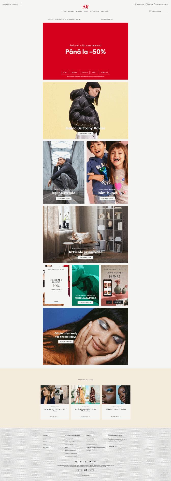 H&M | Reducere până la 50% la articolele din magazinul on-line 1