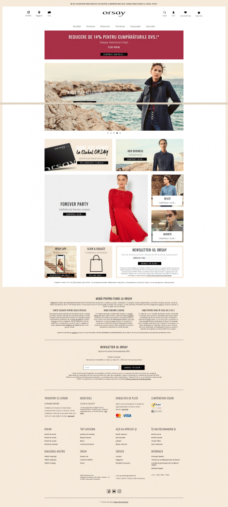 Magazinul online ORSAY – reducere Valentines Days