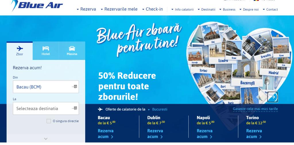 Blue air 50% reducere bilete de avion