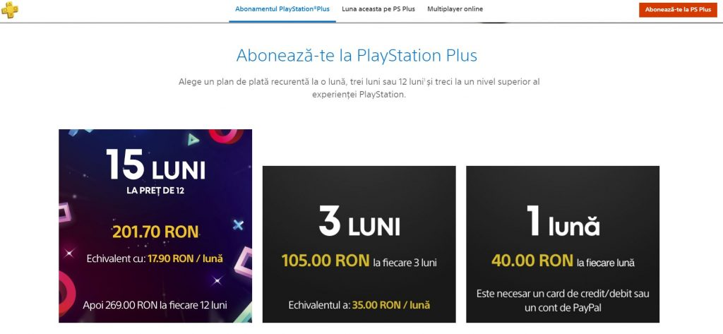 PlayStation Plus reducere