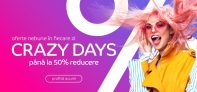 eMAG | Crazy Days reduceri până la 50% (ex. Masină de spălat rufe SAMSUNG 8 kg – 1.999,99 Lei, Consola Xbox One S – 1.049,99 lei, Telefon Samsung Galaxy S10e – 1.949,99 Lei)