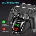 Aliexpress | Stație dublă de încărcare controller PS4 / PS4 Slim / PS4 Pro