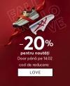 epantofi.ro | Reducere 20% în campania dedicată zilei îndrăgostiților: Gaseste-ti perechea! (ex. Pantofi adidas – 179 lei)
