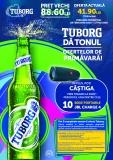 TUBORG | 20 de sticle de bere de 0,5 litri la doar 41,90 lei